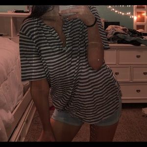 LOFT baggy striped top
